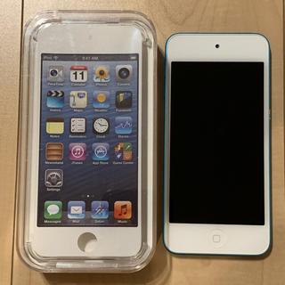 アップル(Apple)のApple iPod touch 64GB 第5世代 ブルー MD718J/A(ポータブルプレーヤー)