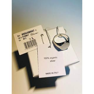 マルタンマルジェラ(Maison Martin Margiela)の【新品】Lサイズ マルジェラ シルバー シグネット オーバル リング(リング(指輪))