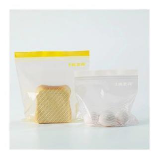イケア(IKEA)の【IKEA】ジップロック 中 1箱分2サイズ50枚セット (容器)