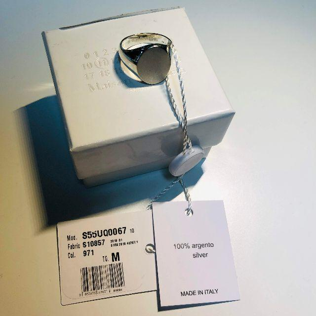 Maison Martin Margiela(マルタンマルジェラ)の【新品】Mサイズ Maison Margiela 11 シルバーリング メンズのアクセサリー(リング(指輪))の商品写真