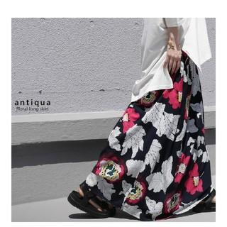 antiqua 完売品 レトロ花柄マキシスカート