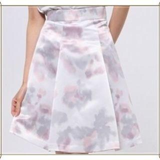 グレー ピンク ぼかし 水彩 パステル スカート