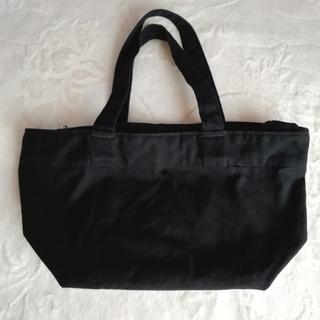 ムジルシリョウヒン(MUJI (無印良品))の完売品 無印良品 定番 撥水コットンファスナー付きトートバッグ 小 ブラック(トートバッグ)