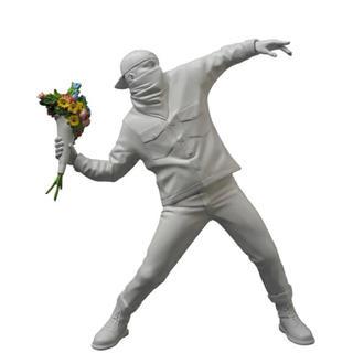 MEDICOM TOY - BANKSY FLOWER BOMBER バンクシー フラワーボンバー ホワイト