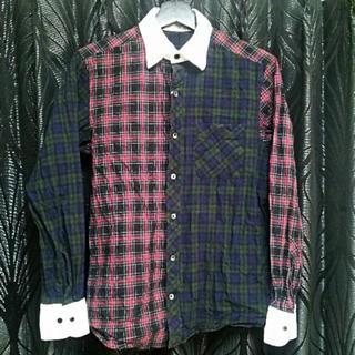 ロンハーマン(Ron Herman)のロンハーマンFREAK'S STORE白襟袖切替ステッチタータンチェックシャツS(シャツ)