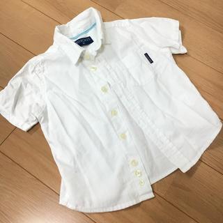 ニシマツヤ(西松屋)のチェロキー 白シャツ 90(ブラウス)