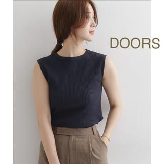 ドアーズ(DOORS / URBAN RESEARCH)の新品🍀今季 DOORS 針抜きノースリーブカットソー(カットソー(半袖/袖なし))