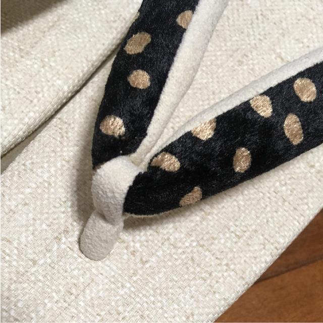 新品 未使用 カフェ草履 カレンブロッソ 菱屋 Sサイズ レディースの靴/シューズ(下駄/草履)の商品写真