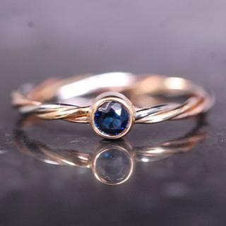 カルティエ(Cartier)のCARTIER カルティエ 指輪 ヴィンテージ サファイア トリニティ ツイスト(リング(指輪))