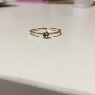 ノーブランド/K18 アクアマリンリング(リング(指輪))