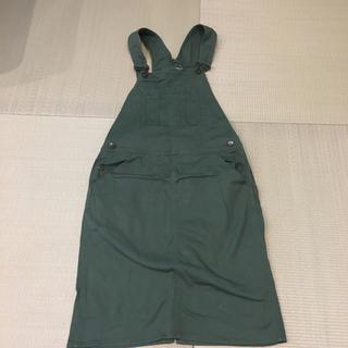バックナンバー(BACK NUMBER)のカーキ ジャンパースカート(ひざ丈ワンピース)