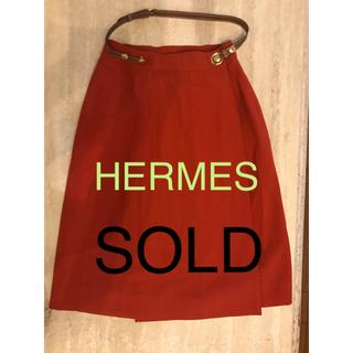 エルメスのひざ丈スカート(ひざ丈スカート)