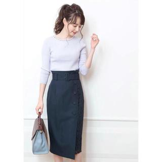 ジャスグリッティー(JUSGLITTY)の【新品未使用】レースタイトスカート(ひざ丈スカート)