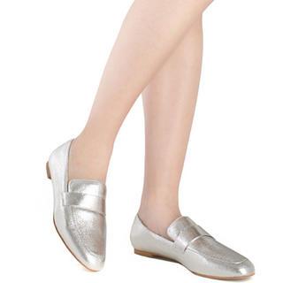 ランダ(RANDA)の新品 RANDA ローファー シルバー 22cm(ローファー/革靴)