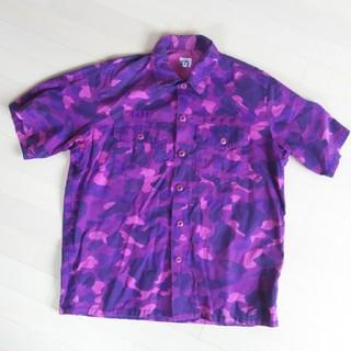 アベイシングエイプ(A BATHING APE)のアベイシングエイプ カラーカモ ミリタリーシャツ サイズL(シャツ)