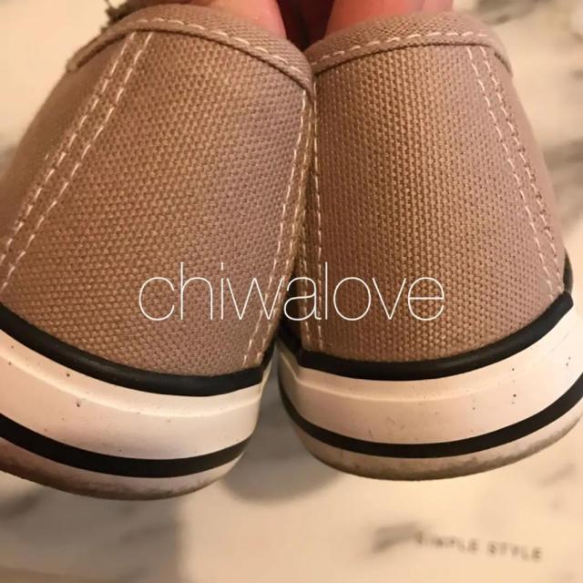 しまむら(シマムラ)の紐なしスニーカー ベージュ 24.0 プチプラのあや着 インスタ話題 レディースの靴/シューズ(スニーカー)の商品写真
