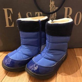 ブーツ 新品 イーストボーイ 18㎝ 青色(ブーツ)