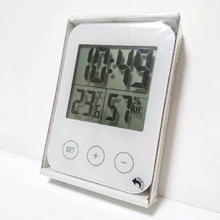 イケア(IKEA)のIKEA 時計 スロッティス 温湿度計付(置時計)