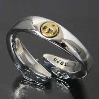 シルバー925 イーグル ヘッド 金 イーグル メタル リング ネイティブ(リング(指輪))