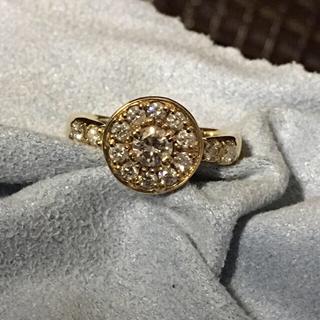 K18  ダイヤ デザインリング(リング(指輪))