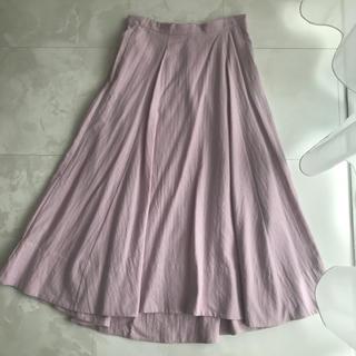 ナノユニバース(nano・universe)の[美品] OZOC♡ ほんのりピンク サーキュラースカート(ロングスカート)