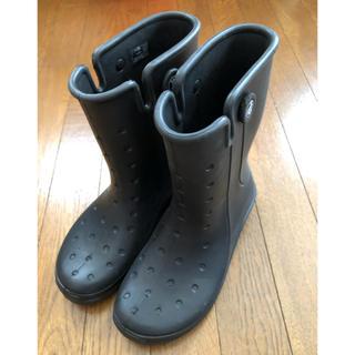 crocs - 【クロックス】レインブーツ M5/W7 ブラック