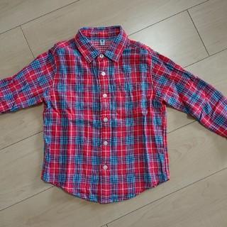 ユニクロ(UNIQLO)のチェックシャツ 110㎝(ブラウス)