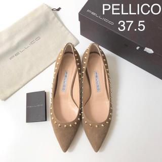 PELLICO - 美品 ★ ペリーコ スタッズパンプス ★ アンドレア スエードパンプス ブラウン