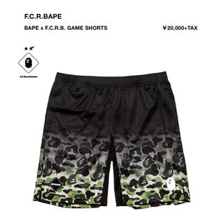 アベイシングエイプ(A BATHING APE)の新品 S BAPE × F.C.R.B. FCRB GAME SHORTS (ショートパンツ)