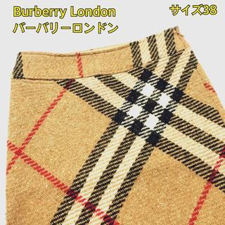 バーバリー(BURBERRY)のバーバリー ロンドン タイトスカート 高級ウール ノヴァチェック S(ひざ丈スカート)
