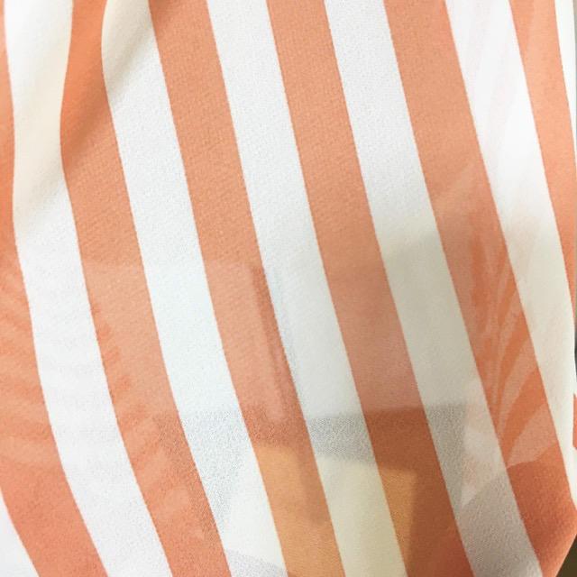 しまむら(シマムラ)のPinkyGirls レース ノースリーブ ストライプ ブラウス 匿名 送料込み レディースのトップス(シャツ/ブラウス(半袖/袖なし))の商品写真