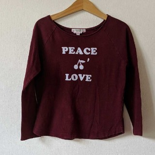 Bonpoint - Bonpoint🍒バーガンディーカラーL/STシャツ