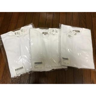 ナノユニバース(nano・universe)のナノユニバース ワッフルラウンドTシャツ 七分シャツ 3枚セット 新品未使用(Tシャツ/カットソー(半袖/袖なし))