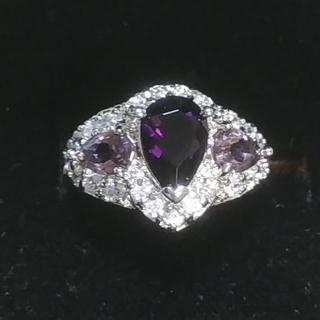 テクノボンドプラチナ 紫CZリング(リング(指輪))