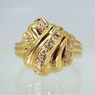 K18YG ダイヤモンド リング 12.5号 [f320-4](リング(指輪))