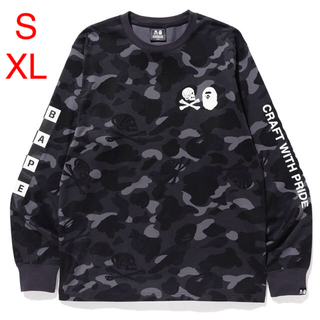 アベイシングエイプ(A BATHING APE)のサイズ S & XL BAPE® NBHD CAMO LONG  TEE(Tシャツ/カットソー(七分/長袖))