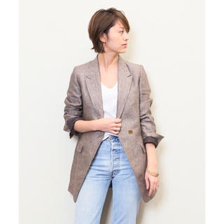 ドゥーズィエムクラス(DEUXIEME CLASSE)の【Sako様専用】LINEN OX ジャケット(テーラードジャケット)