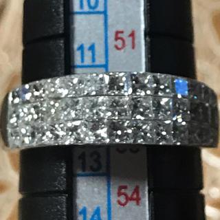 ミステリーセッティング ダイヤモンドリング 2.00ct キラキラです♪(リング(指輪))