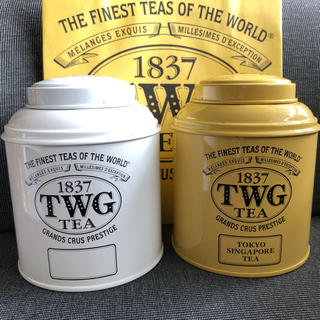 ディーンアンドデルーカ(DEAN & DELUCA)のTWG tea 紅茶 空き缶 セット twg シンガポール(容器)