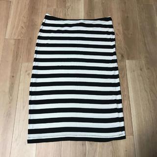 エイチアンドエム(H&M)のH&M ボーダー スカート ワンピース 2way(ひざ丈スカート)
