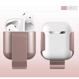 アップル(Apple)のAirPods1.2カバー ワイヤレス対応(ローズゴールド)(ヘッドフォン/イヤフォン)
