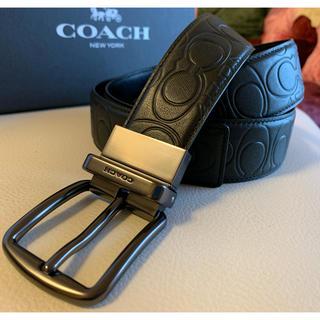 コーチ(COACH)の34,560円新品COACHハーネスリバーシブルシグネチャーカーフレザー/ベルト(ベルト)
