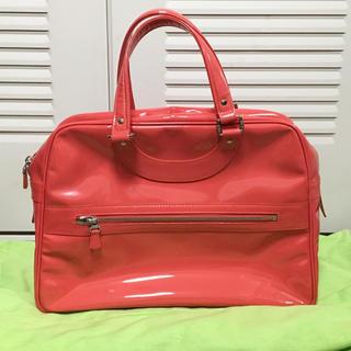H.P.FRANCE - ジャックルコー  リスボン バッグ 鞄 サーモンピンク エナメル