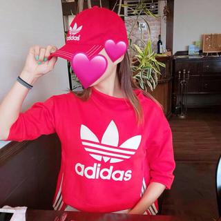adidas - アディダス セット トップス 赤 キャップ