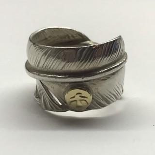 ゴローズ(goro's)のゴローズ  良品  金メタル付特大フェザーリング  12号(リング(指輪))
