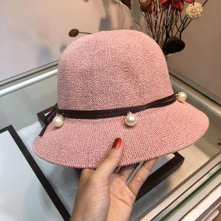 グッチ(Gucci)の麦わら帽子(麦わら帽子/ストローハット)