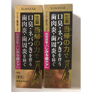 サンスター(SUNSTAR)のサンスター 薬用 塩歯磨き粉 2本セット 新品未開封(歯磨き粉)