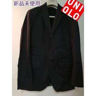 ユニクロ(UNIQLO)のユニクロUNIQLO テーラードジャケットメンズブラック新品同様LL平服(テーラードジャケット)