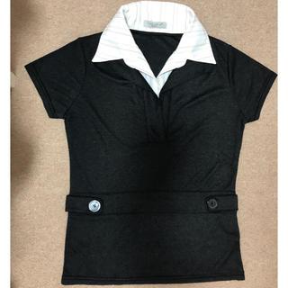 シマムラ(しまむら)の襟付き半袖カットソー 重ね着風(カットソー(半袖/袖なし))