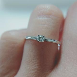 トクトクジュエリーメイ  PT900 天然ダイヤモンド 0.09ct(リング(指輪))